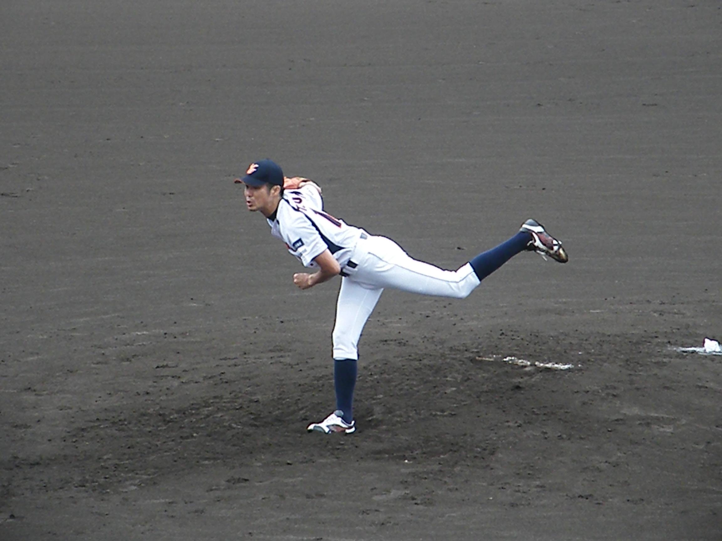 6回まで好投した#14 藤井 祐 投手