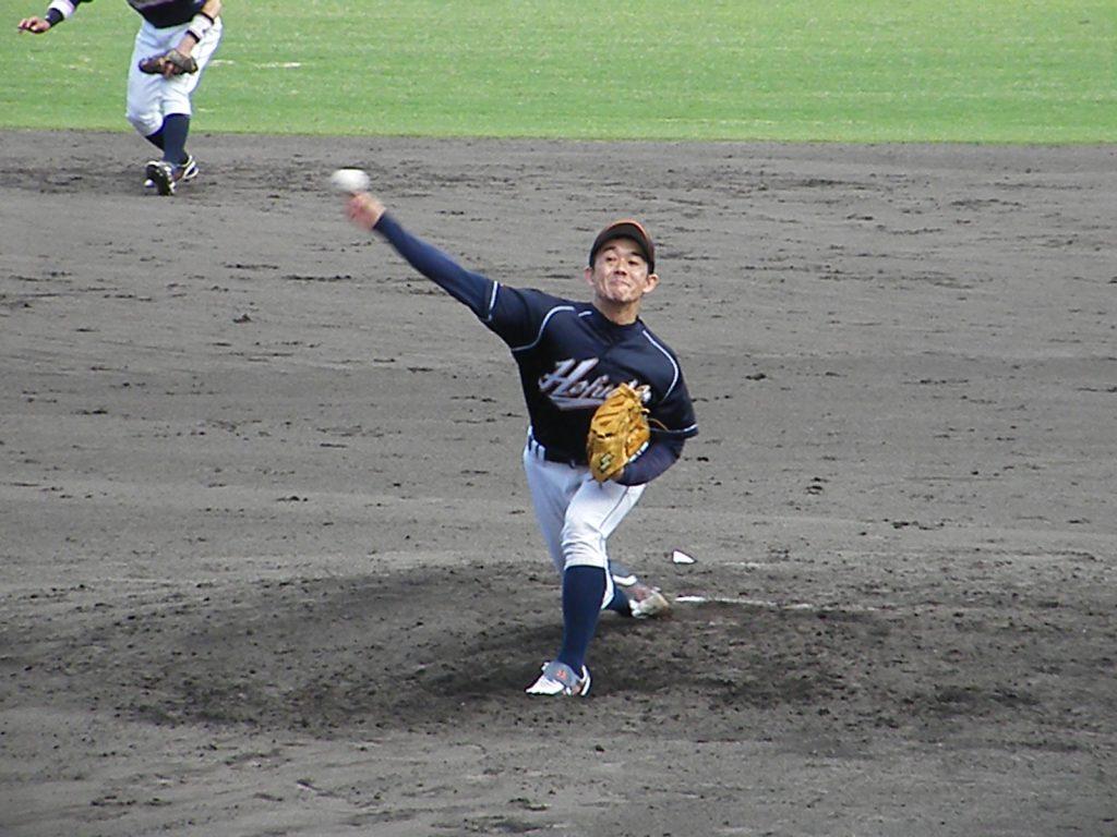 1回を無得点に抑えた田中投手