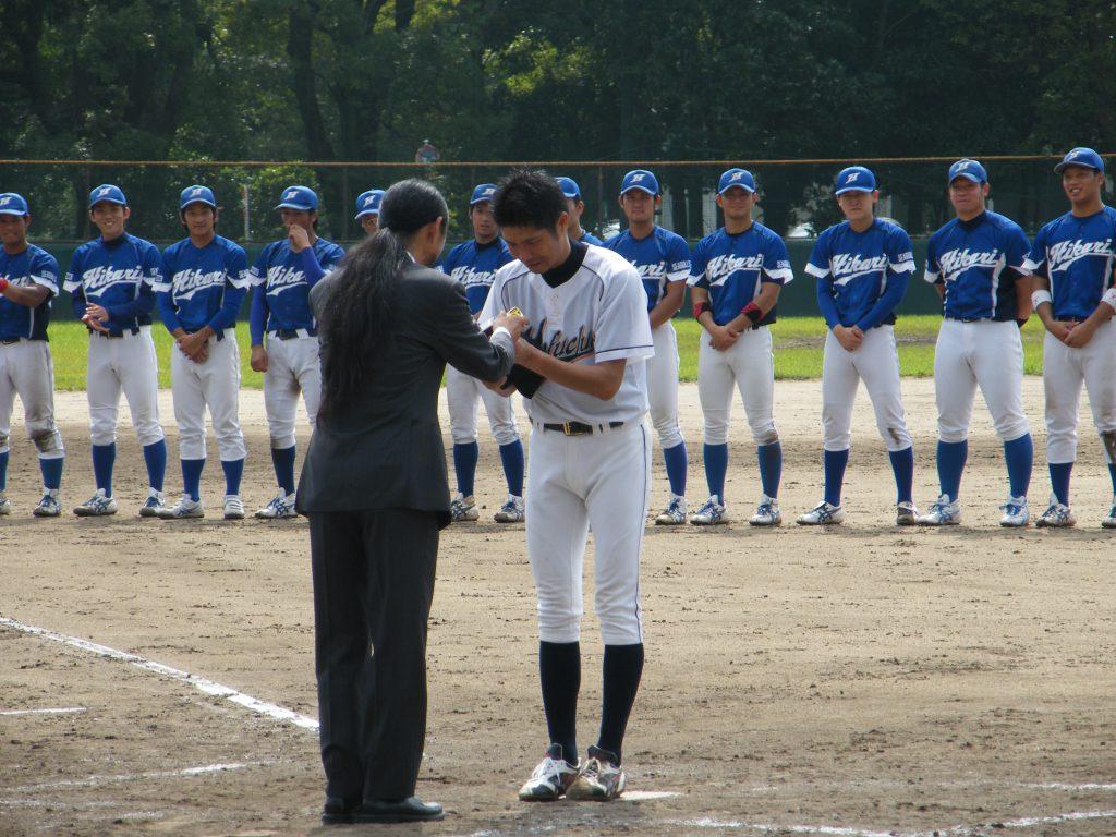 敢闘賞を獲得した藤井投手