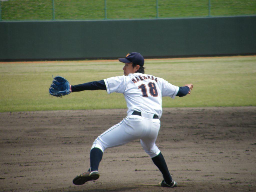 決勝タイブレークにも動じず投げ切った#18前原翔太投手