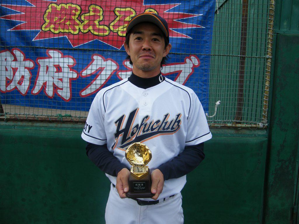 田中投手は敢闘賞を受賞!