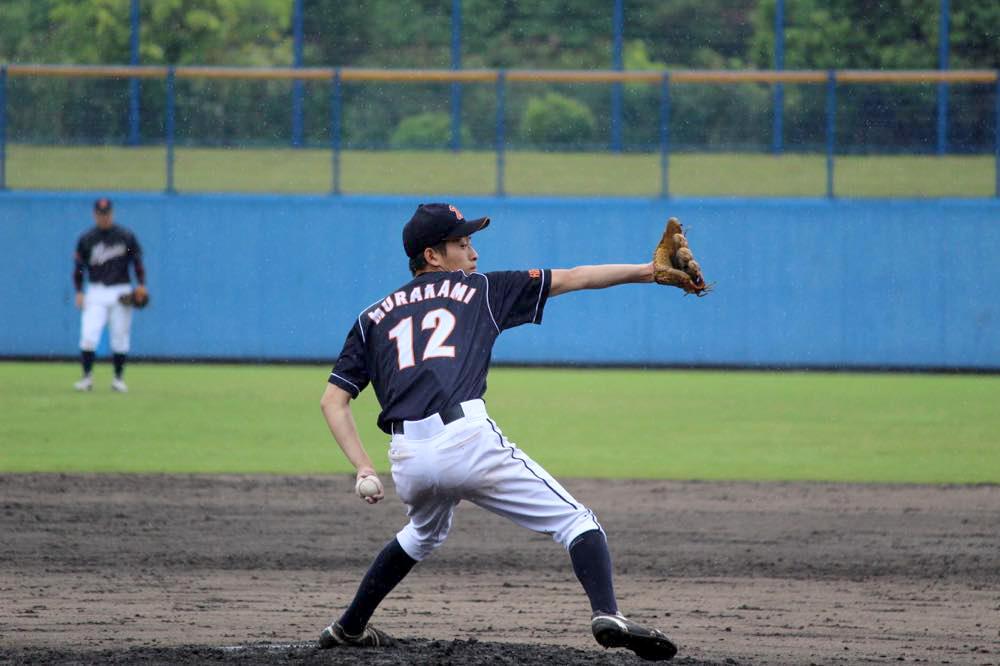 継投したルーキー、#12村上雄大投手