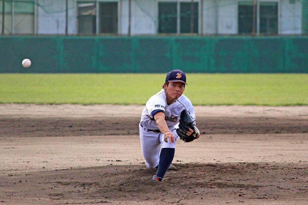 決勝戦で先発した水本雄也投手